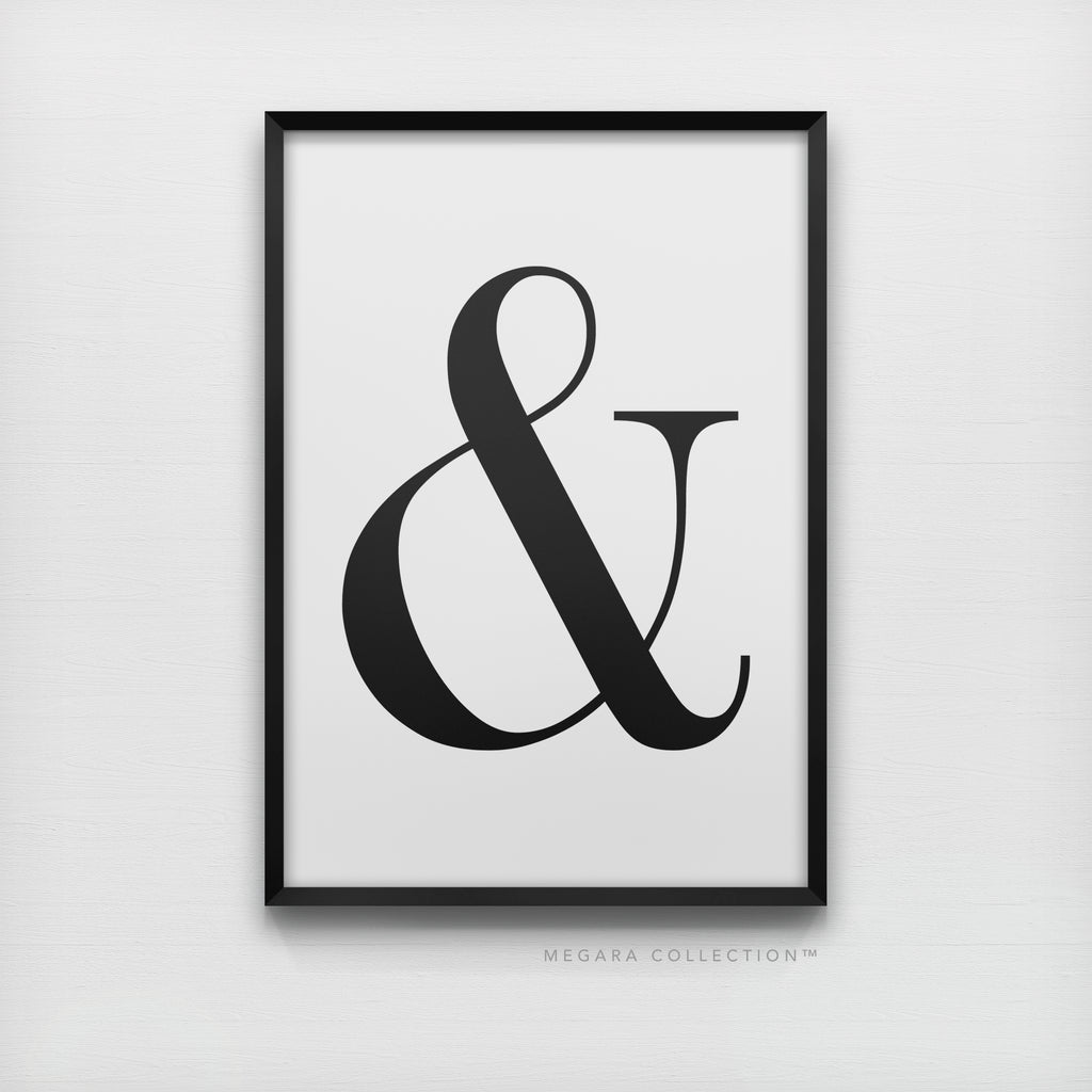Ampersand & Minimalist Black & White Art