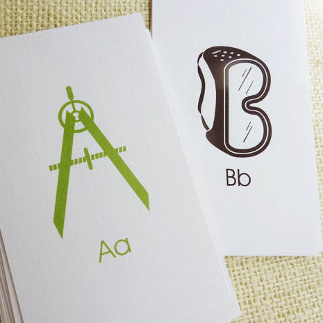 Construction ABC Flash Cards Printable