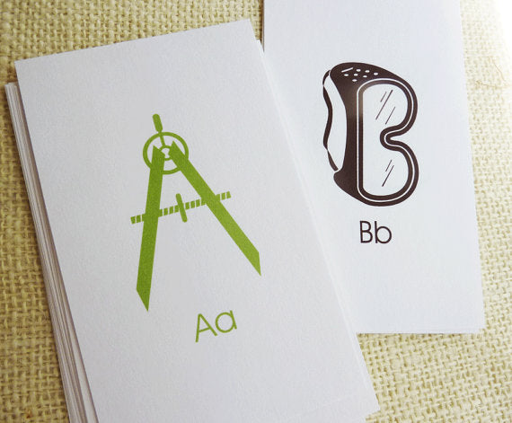 Construction Alphabet Flash Cards Printable