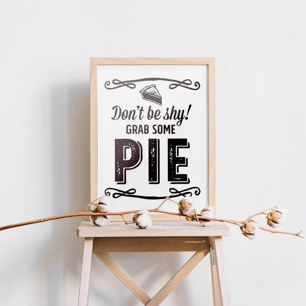 Pie Dessert Table Printable Sign
