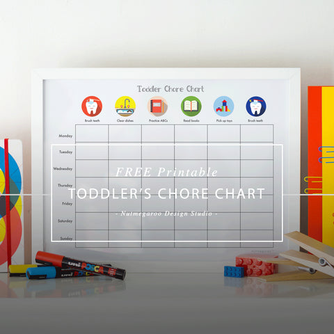 Free Printable Toddler Chore Chart