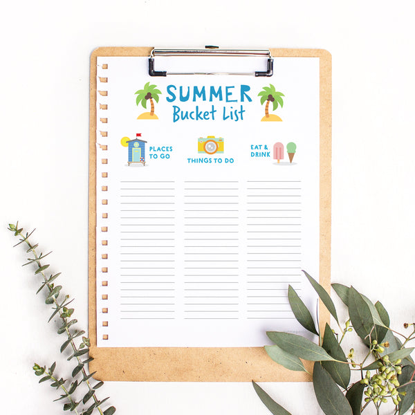 Free Summer Bucket List Printable