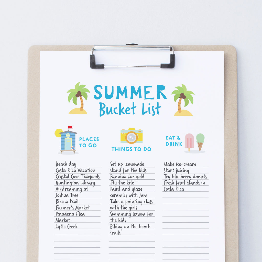image about Bucket Printable identify No cost Summer time Bucket Checklist Printable Nutmegaroo