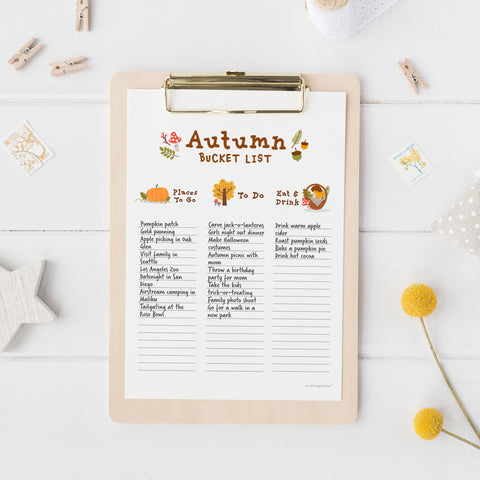 Free Autumn Bucket List Printable, Free Fall Bucket List Printable