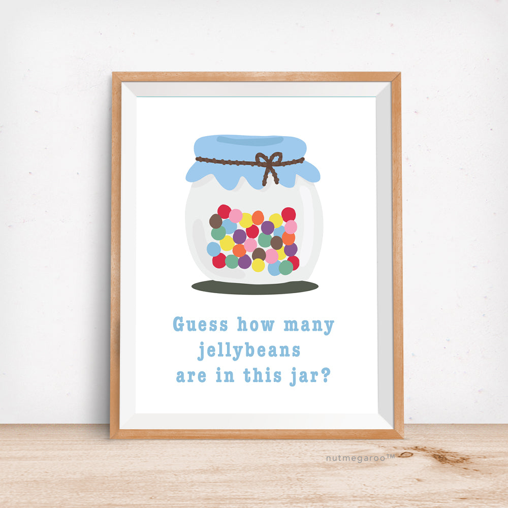 photograph about Guess How Many in the Jar Printable identify Jellybean Counting Sport Signal - Printable
