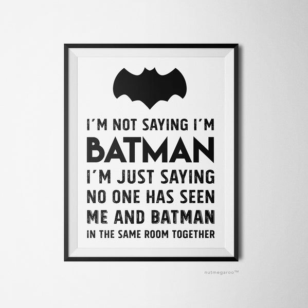 Batman themed boys bedroom decor, Batman wall art, Batman artwork