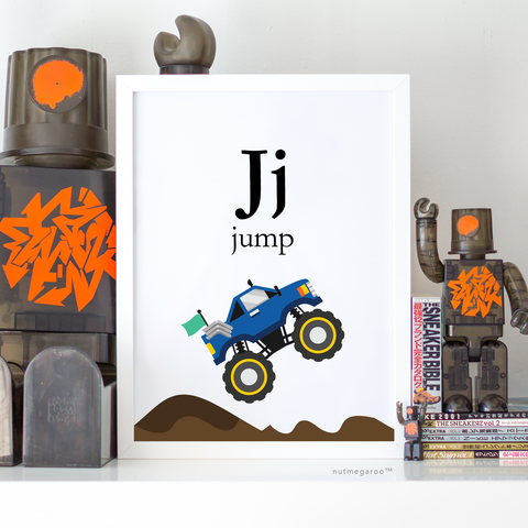 Jj for Jump Monster Truck Artwork - Printable Monster Truck Art