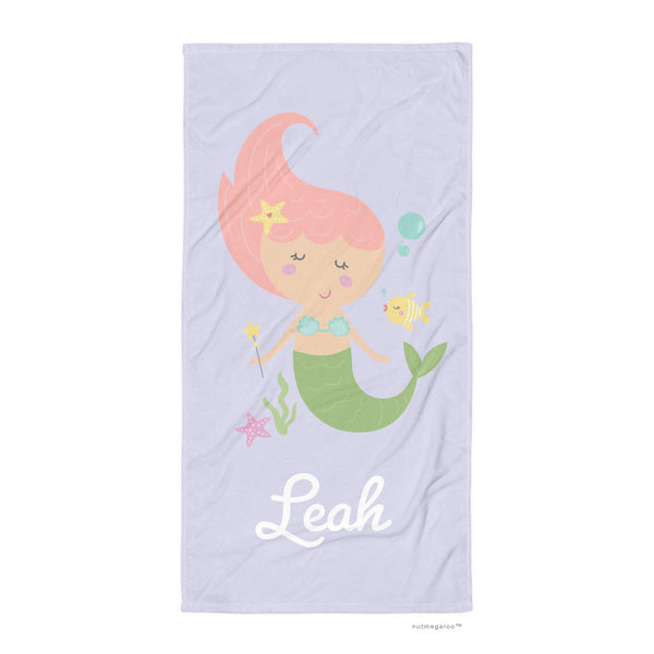Mermaid Bath Towel Lavender