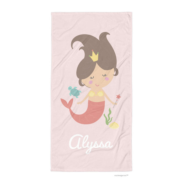 Mermaid Bath Towel Pink