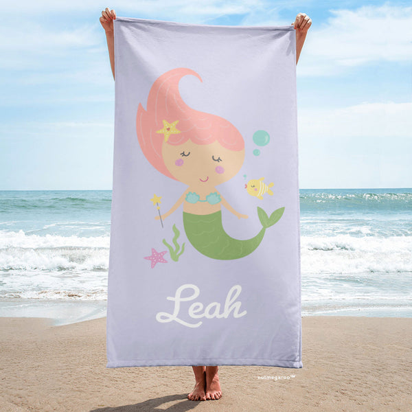 Mermaid Beach Towel Lavender