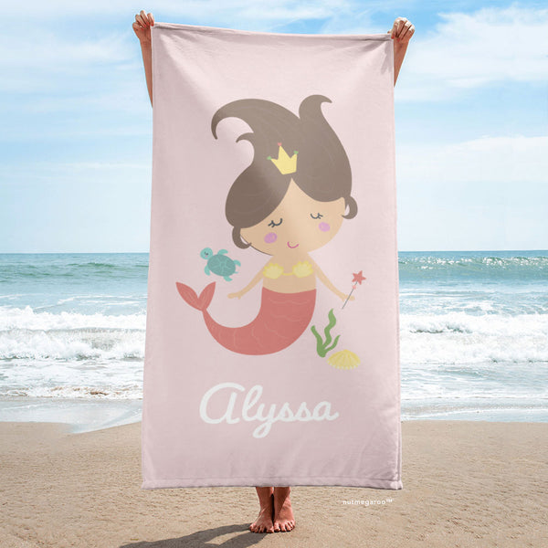 Mermaid Beach Towel Pink