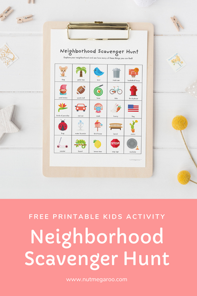 Free Kids Neighborhood Scavenger Hunt Printable