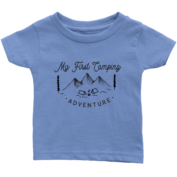 My First Camping Trip Infant T-shirt shirt