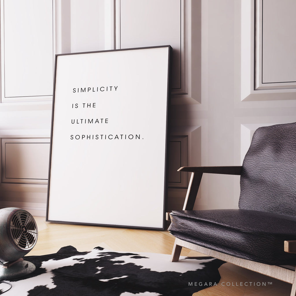 Simplicity is the ultimate sophistication art, Simplicity is the ultimate sophistication wall art, Simplicity is the ultimate sophistication poster, leonardo da vinci quote art, leonardo da vinci quote wall art