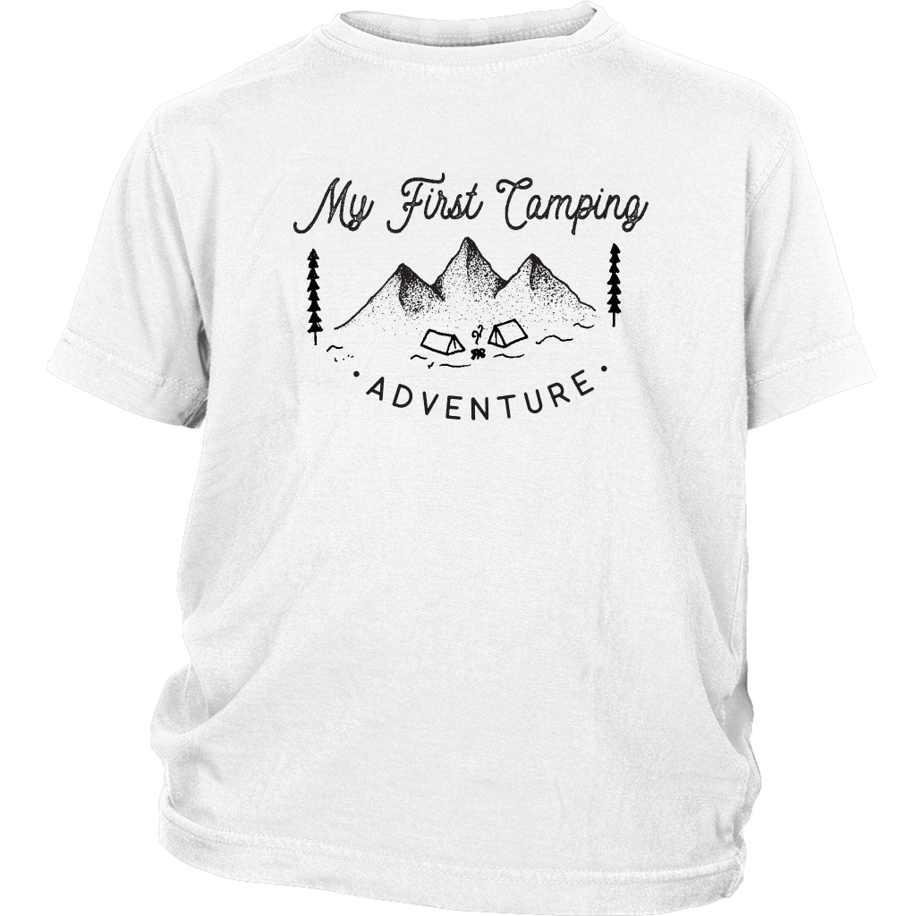 My First Camping Trip Shirt, My First Camping Youth T-shirt Shirt