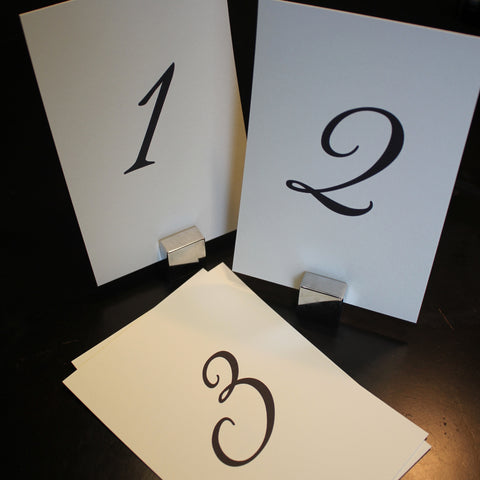 diy wedding table numbers printable