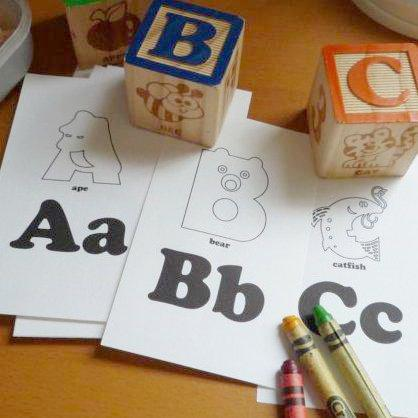 printable alphabet flash cards to color