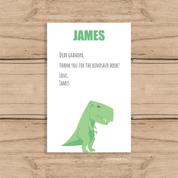 Dinosaur Stationery, Personalized Stationery for Boys
