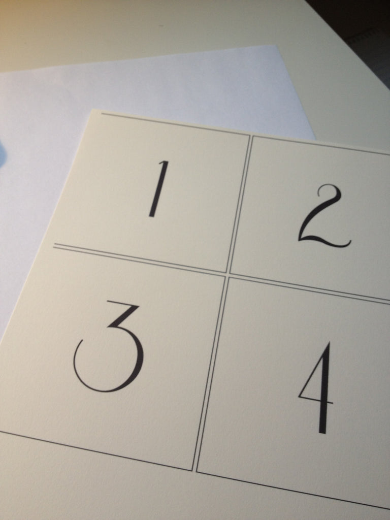 photo regarding Printable Wedding Table Numbers titled Printable Marriage ceremony Desk Quantities