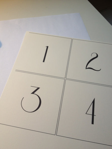 printable wedding table numbers