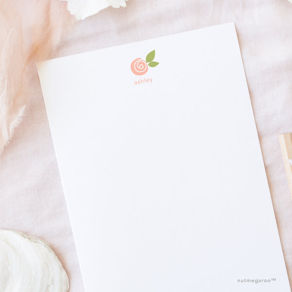 Rose Stationery, Printable Stationery, Girls Stationery, flower stationery