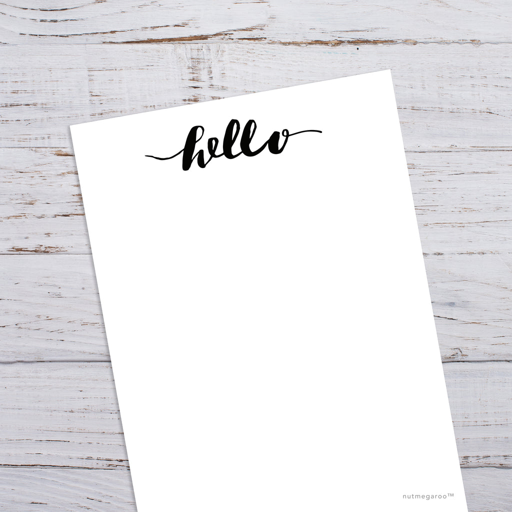 graphic about Free Printable Stationery Black and White known as Good day Stationery, Printable Stationery - Printable