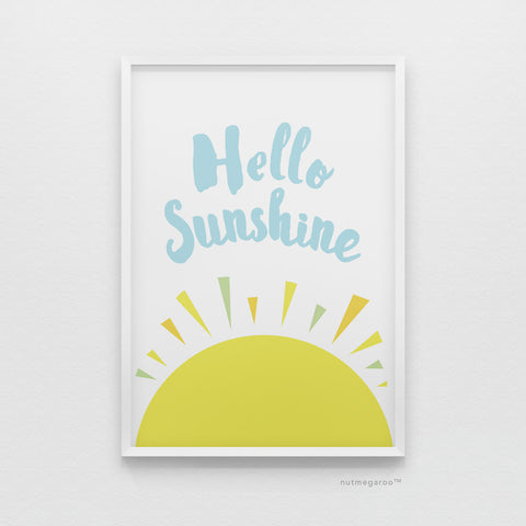 Hello Sunshine - Free Printable Art