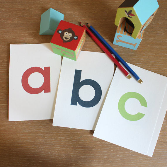 Alphabet Flash Cards for boys - 3x5 Printable PDF