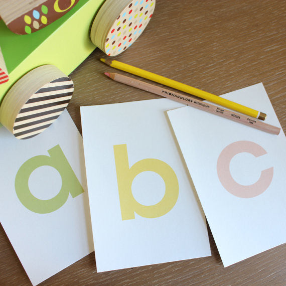 Alphabet Flash Cards for Girls - Printable 3x5 PDF File