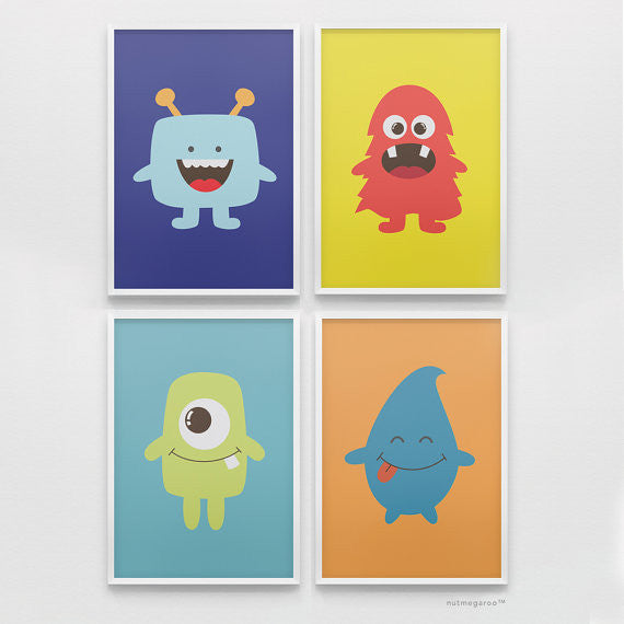 lil monsters art print collection