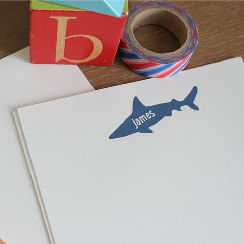 blue shark boys stationery