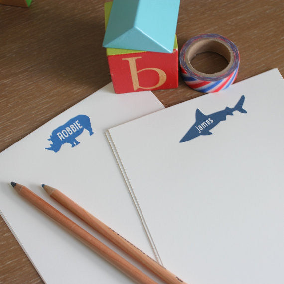 personalized stationery for boys, safari birthday thank you notes