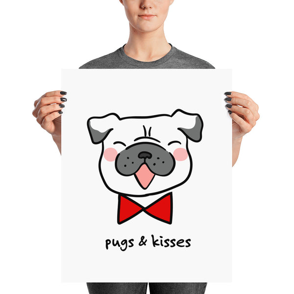 Pugs & Kisses Pug Wall Art
