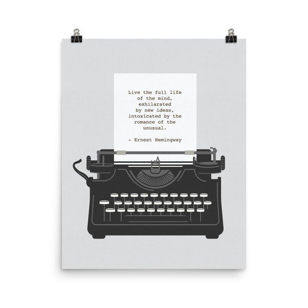 Hemingway quote on typewriter