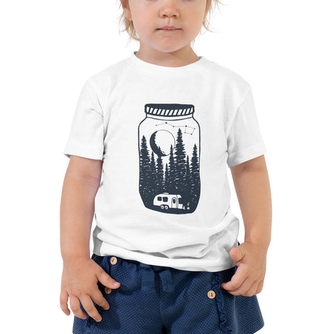 Airstreaming under the moon and stars Toddler Short Sleeve Tee