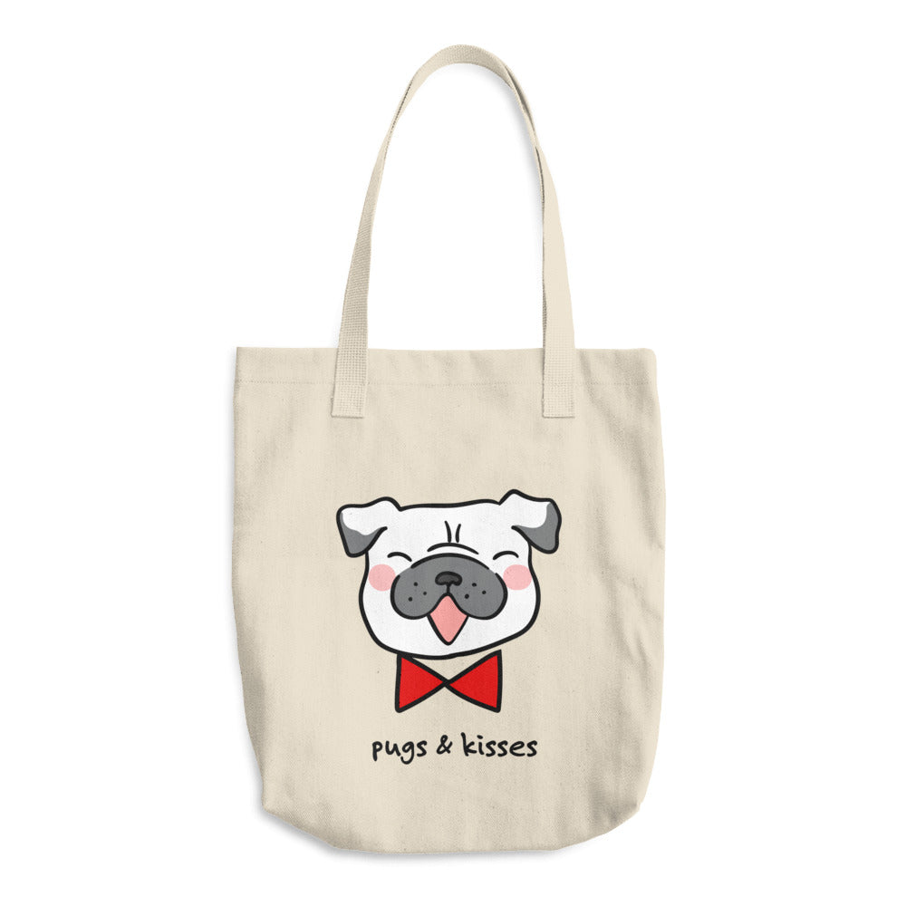 Pugs & Kisses Pug Grocery Bag