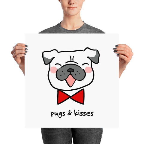 cute pug posters