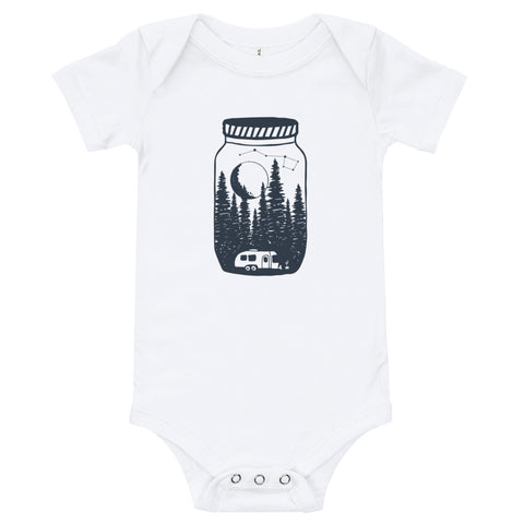 Airstreaming under the moon and stars baby onsie bodysuit