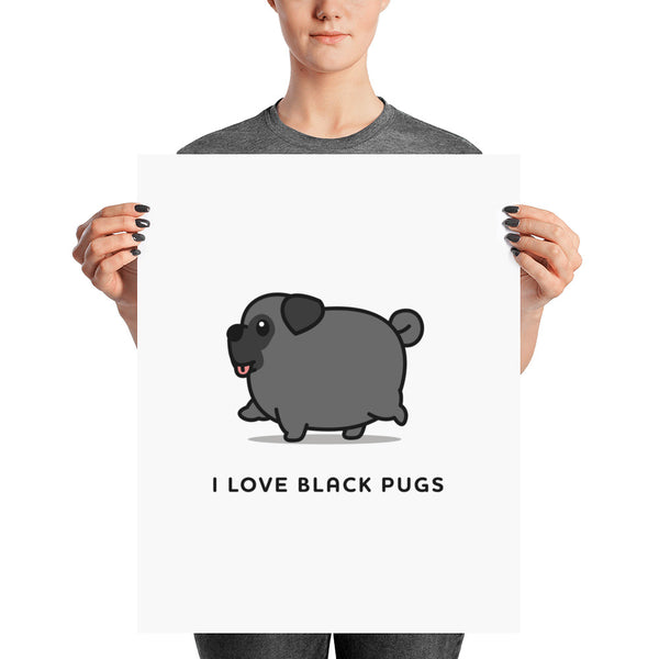 I love black pugs art