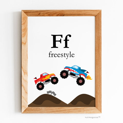 Ff for Freestyle Monster Truck Artwork - Printable