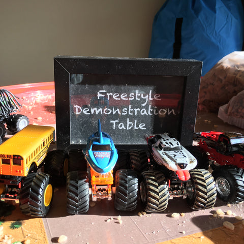 Monster Truck Demonstration Table Sign - Printable