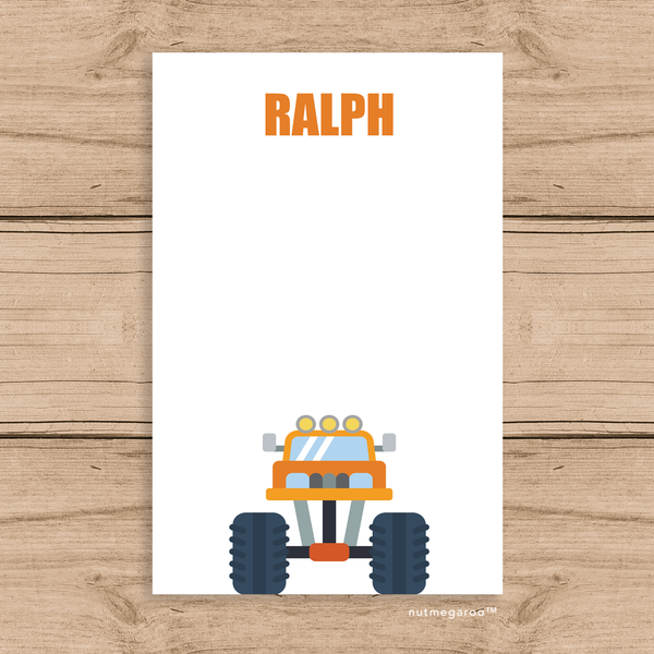 monster truck stationery