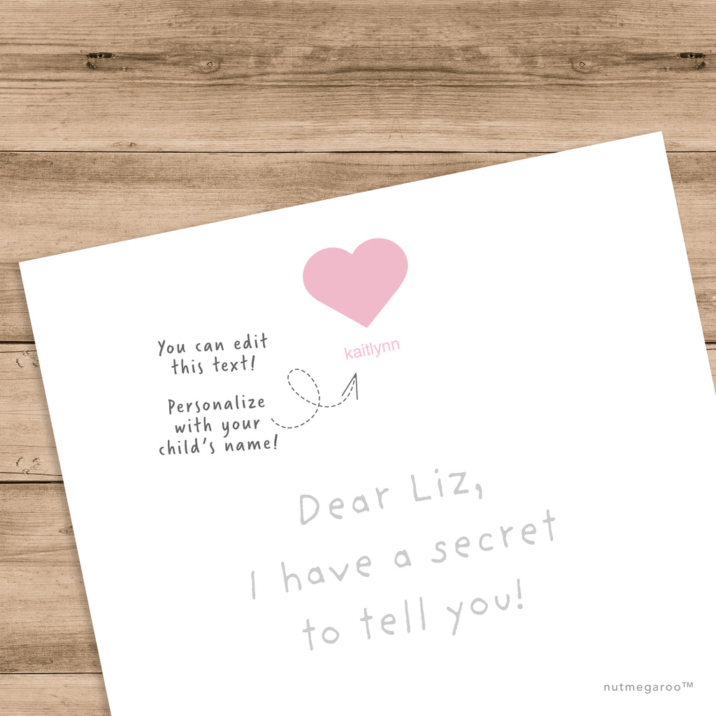 free pink heart Valentine's Day stationery, free girls stationery, free Printable stationery