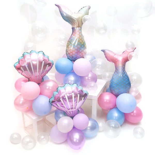 Mermaid Tail Set Balloon Little Mermaid Birthday Party Decor Under the Sea Girl 1st Mermaid Birthday Girl Baby Shower