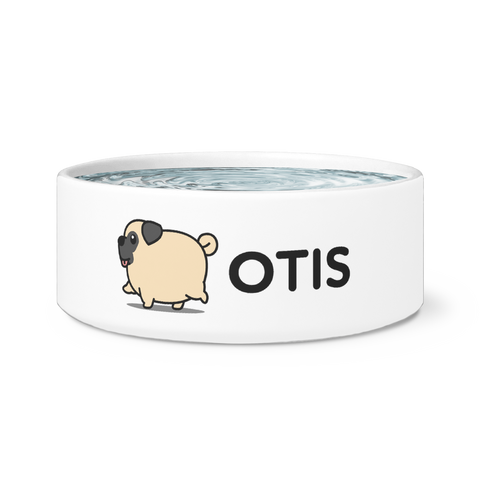 Personalized Pug Dog Bowl