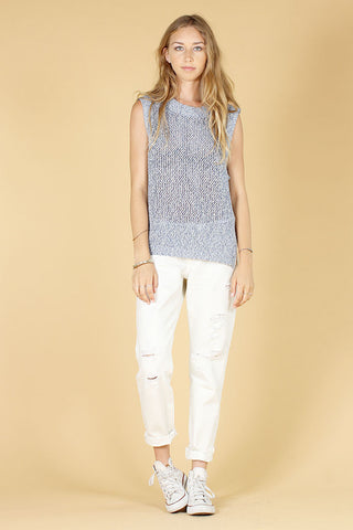 VERMONT SWEATER TANK - CHAMBRAY