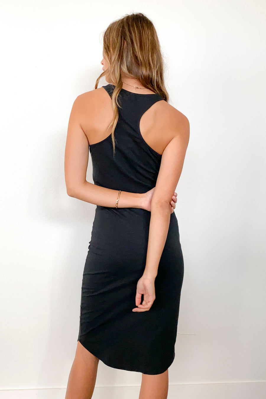 SCARLETT DRESS-Washed Black