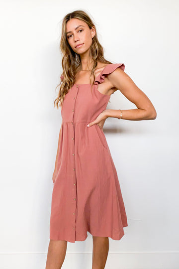 AMELIA DRESS-Dusty Rose