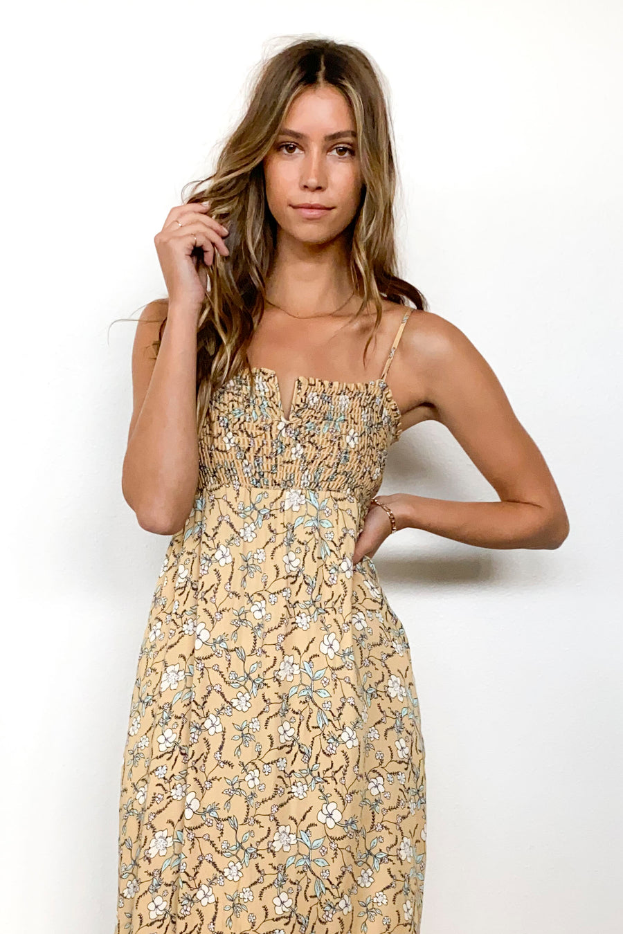ADDISON DRESS-Gold