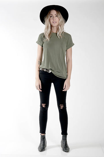 MAISON TWO TEE - OLIVE